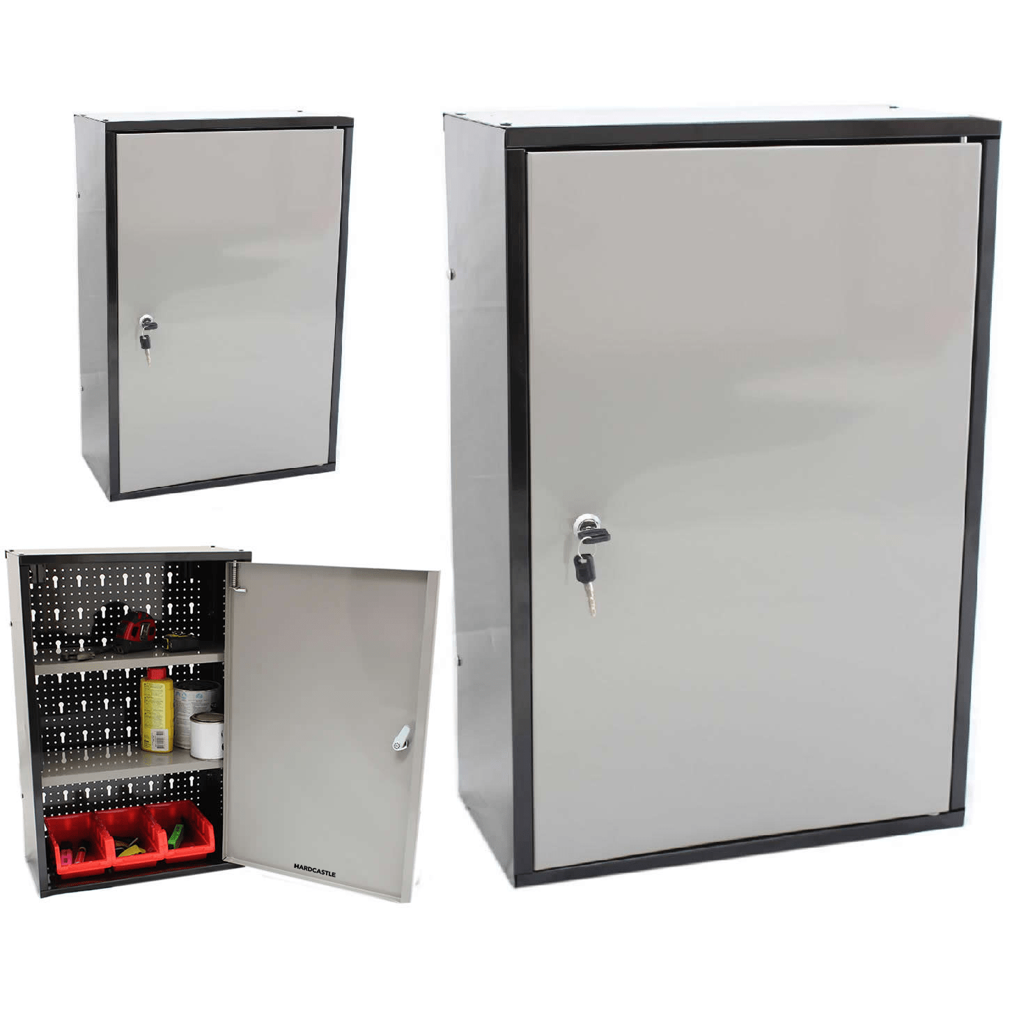 Lockable Cupboard Lockable Metal Garage Shed Storage Cabinet Wall Unit Tool