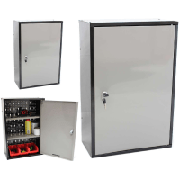 LOCKABLE METAL GARAGE/SHED STORAGE CABINET WALL UNIT TOOL ...