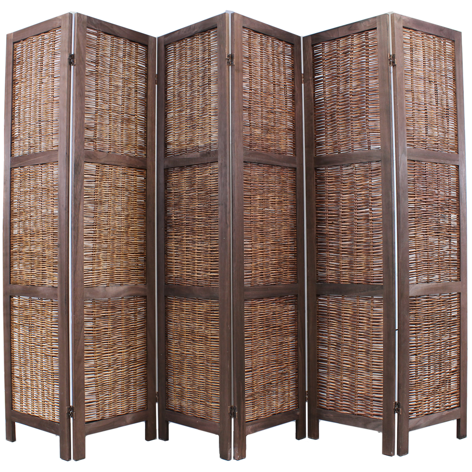 Room Divider Screens Wooden Framed Wicker Room Divider Privacy Screen Partition