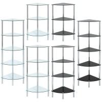 GLASS CORNER SHELF UNIT DISPLAY/BATHROOM/HALL/END/LAMP ...