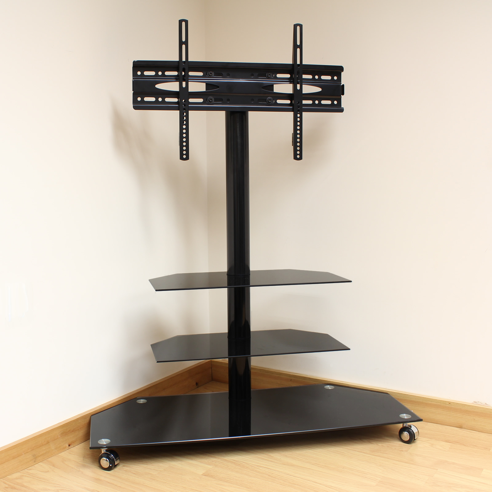 Tv Stand With Wheels Hartleys Cantilever Mobile Tv Stand Trolley With Bracket