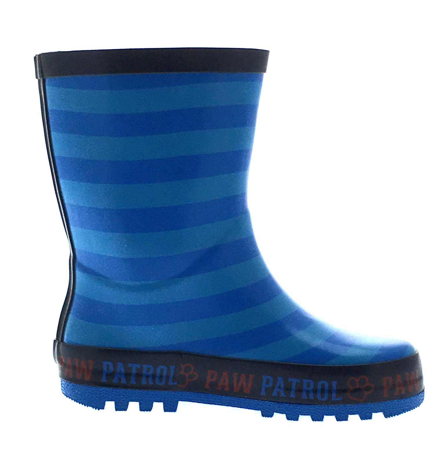 Boys Paw Patrol Wellington Boots Blue Rubber Rain Wellies