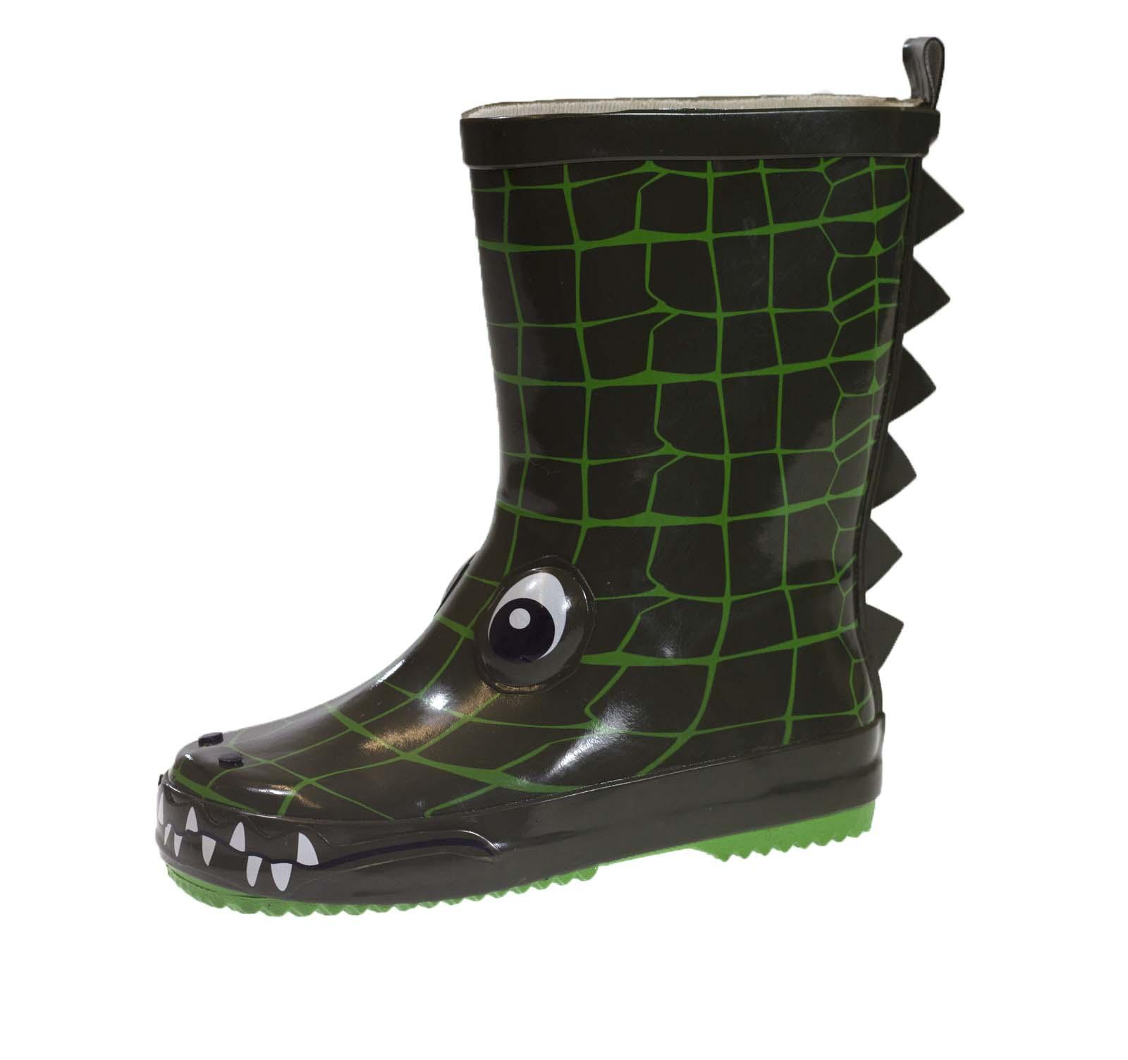 Boys 3d Wellington Boots Waterproof Rain Snow Wellies