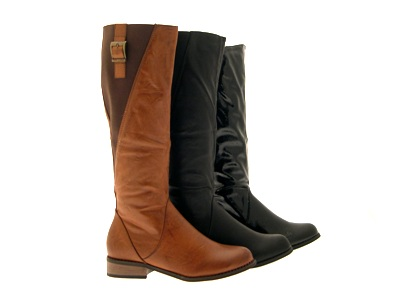 Womens Riding Knee High Boots Elasticated Stretch Wide