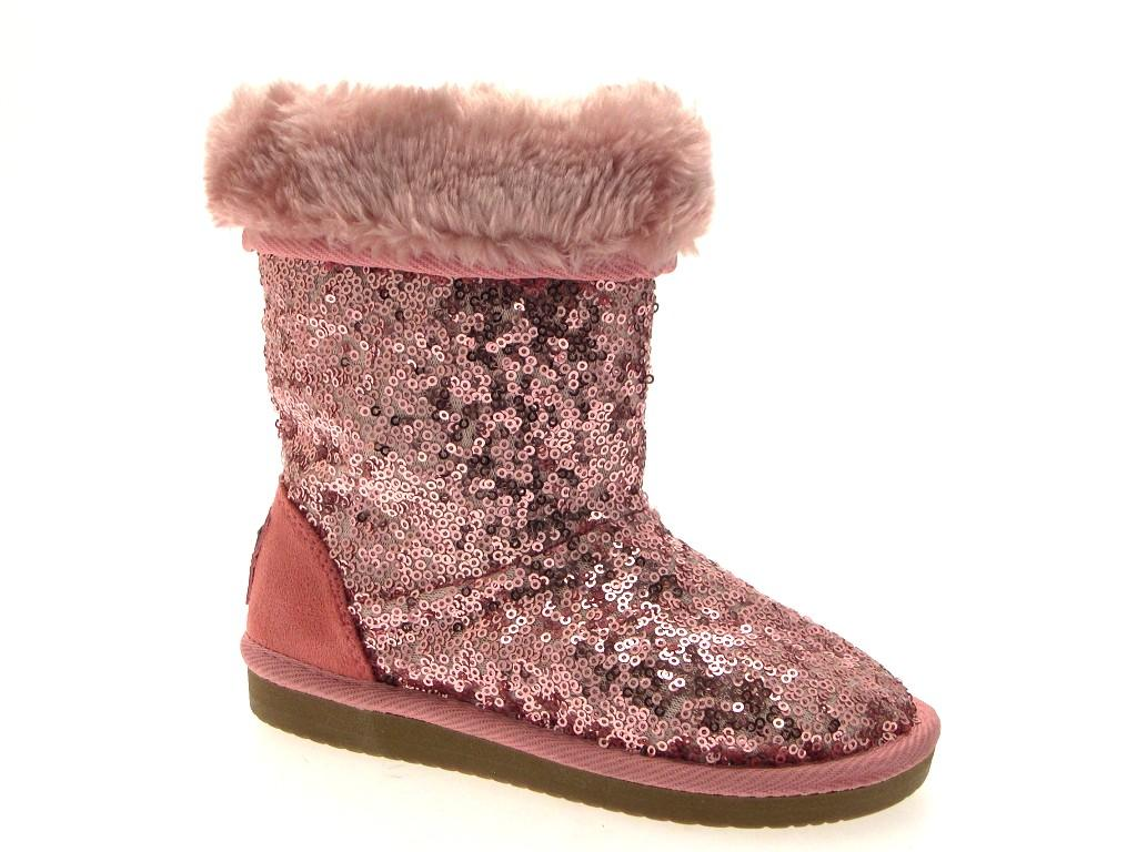 Womens Girls Ladies Kids Sequin Fur Lined Mid Calf Faux