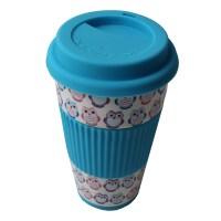 Travel Cup Owl Mug Insulated Lid Thermal Coffee Tea ...