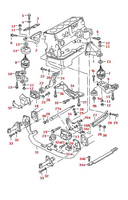 1999 Audi A4 Engine Diagram