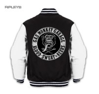 Official GMG Gas Monkey Garage Black Varsity Jacket BLOOD ...