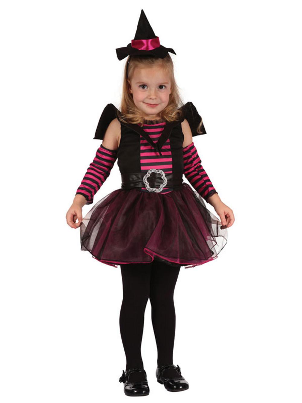 Kids Cute Witch New Fancy Dress Tutu Costume Gothic Girls