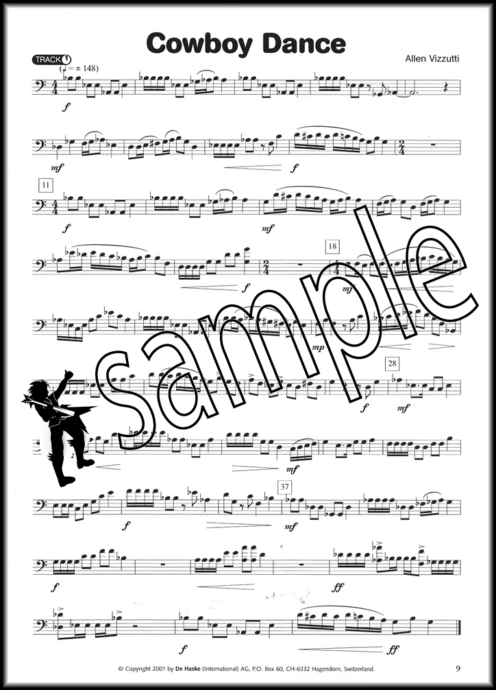 20 Dances for Euphonium Bass Clef Book/CD Hamcor - base cleff