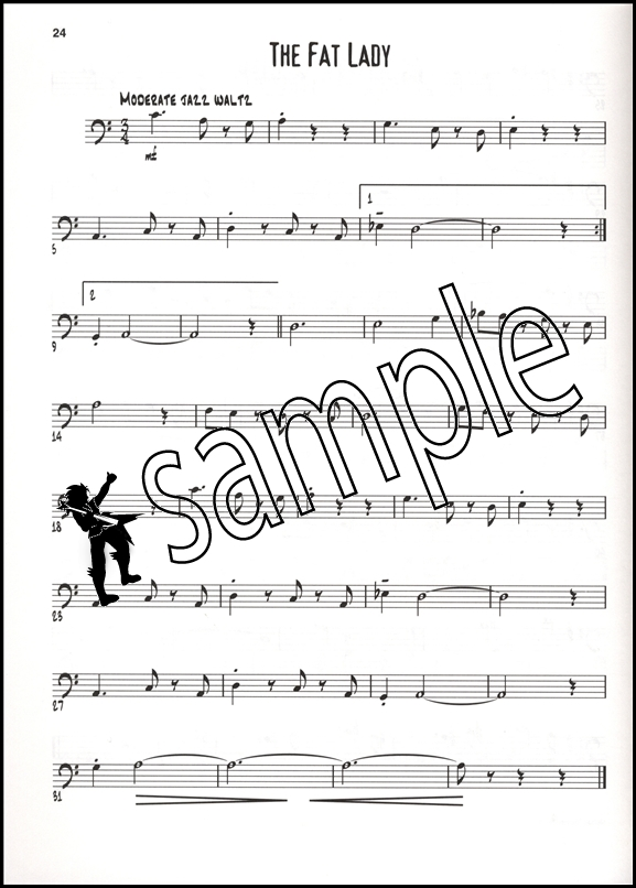 Exercises  Etudes for the Jazz Instrumentalist Bass Clef Hamcor - bass cleff sheet music