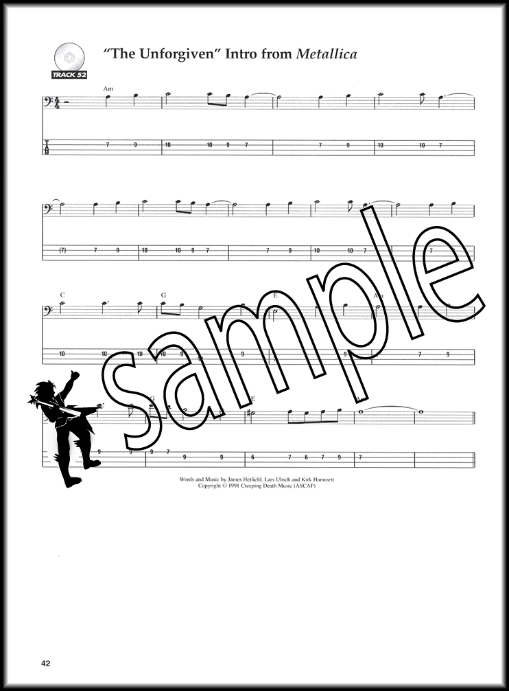 Learn to Play Bass with Metallica 1 Guitar TAB Music Book and CD Joe - metallicaguitar tabs