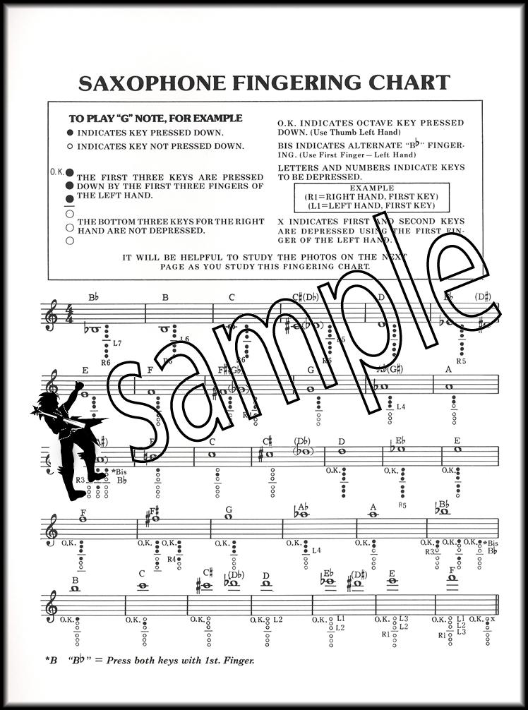 Saxophone Fingering Chart Mel Bay Hamcor