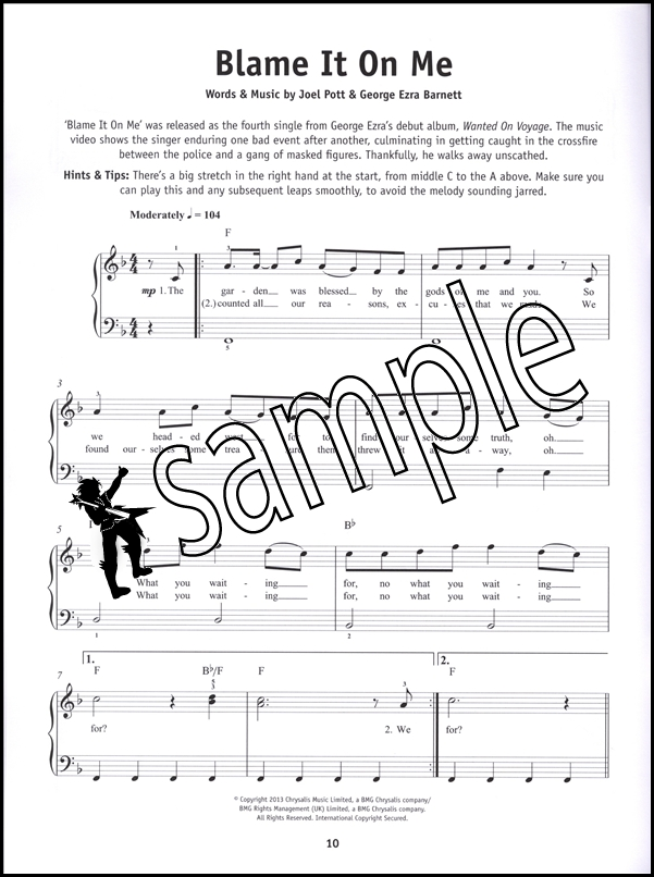 Really Easy Piano Ultimate Chart Hits Pop Music Book Uptown Funk - music chart