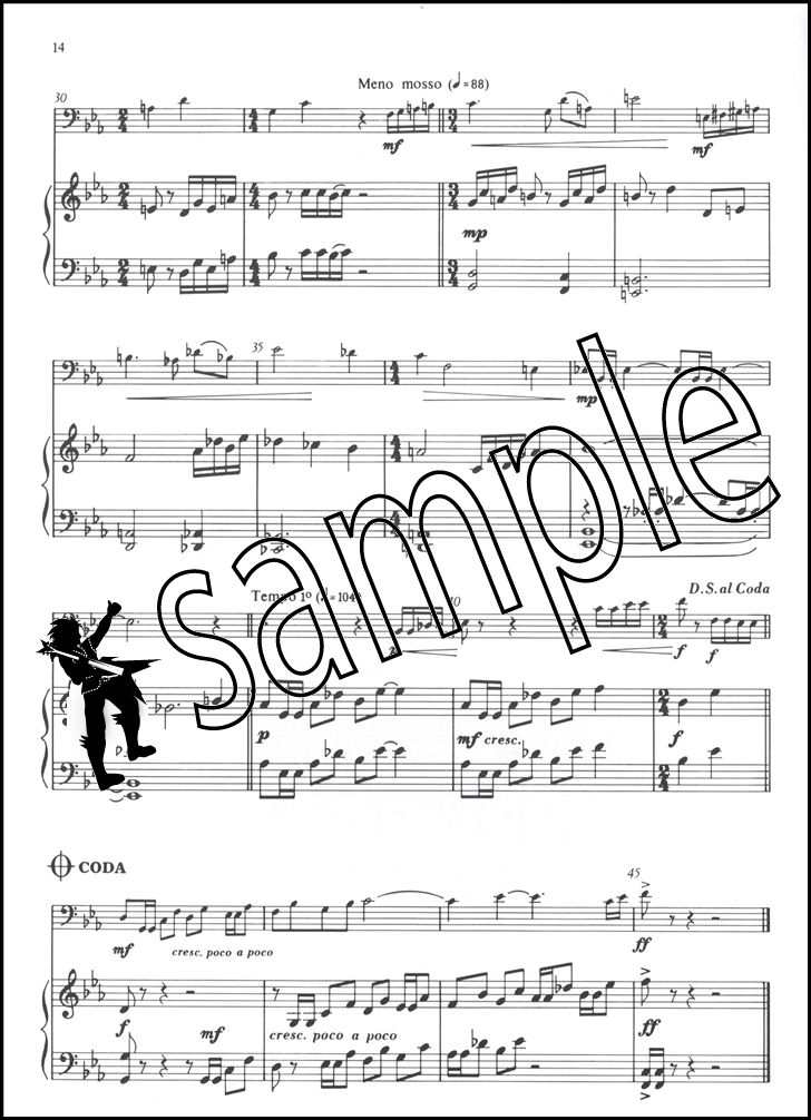 Badinage for Trombone or Euphonium Bass Clef Sheet Music Book with - bass cleft sheet music