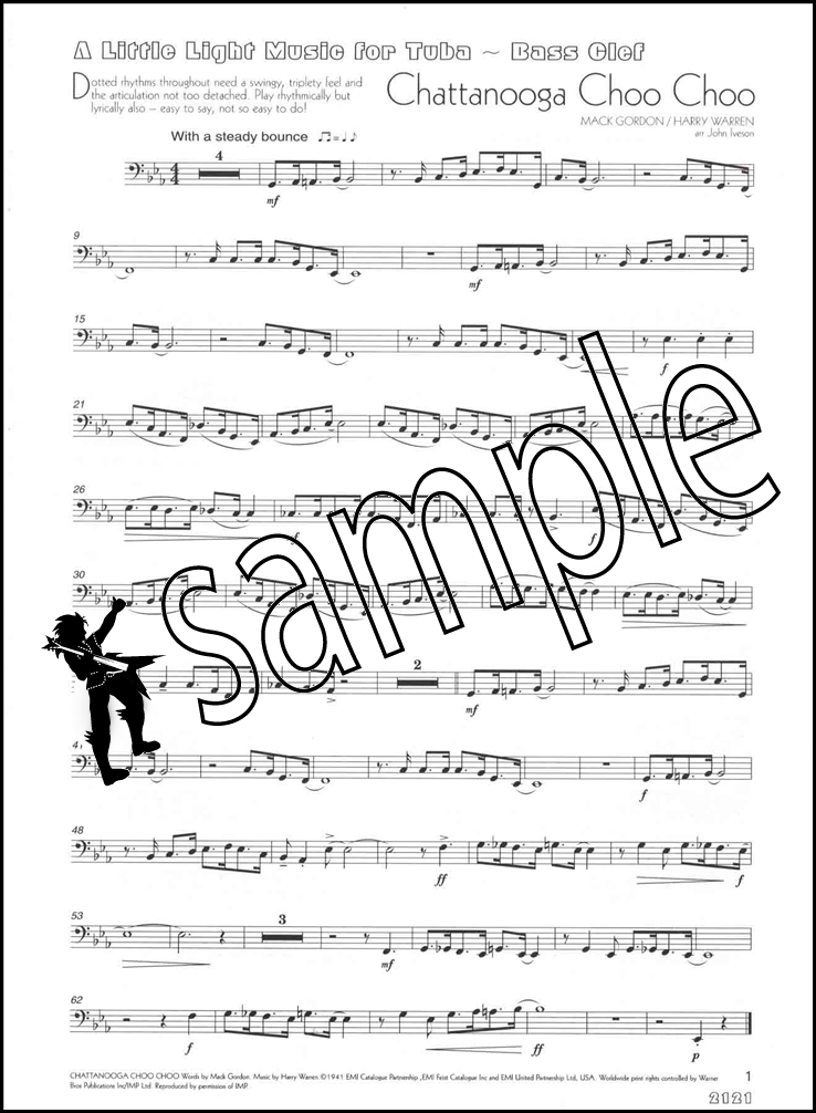 A Little Light Music for Tuba Bass Clef  Piano Sheet Music Book eBay - clef music