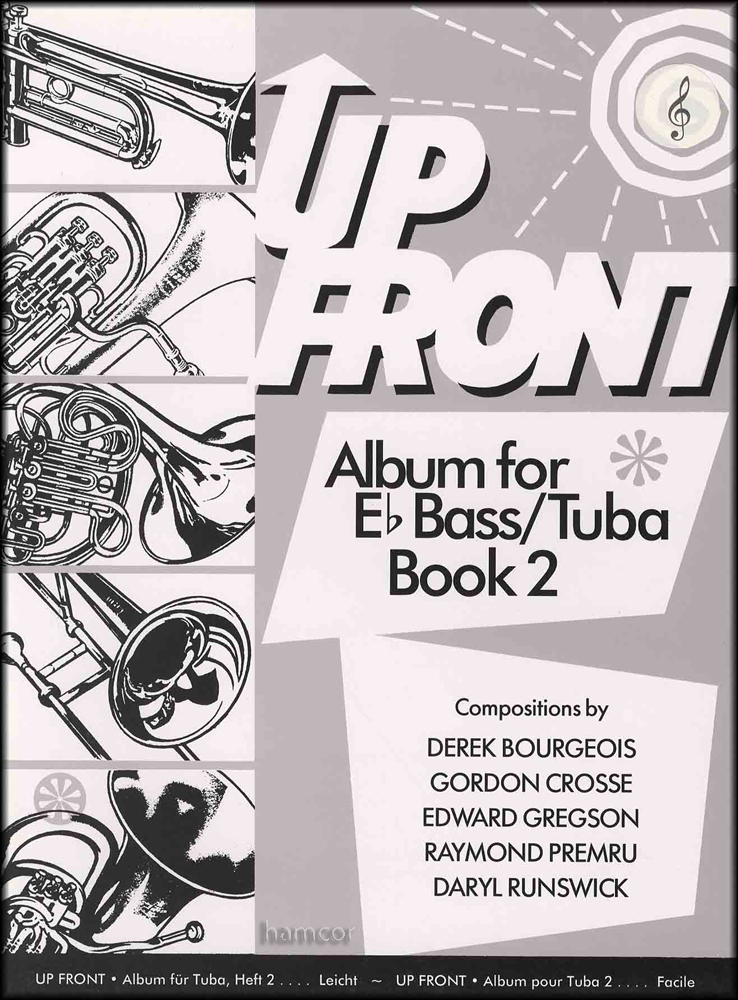 Up Front Album for Eb Bass/Tuba Book 2 Treble Clef  Piano Sheet - clef music