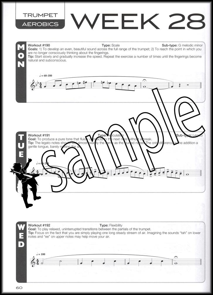 Trumpet Aerobics Sheet Music Book/Audio 365 Exercises 52 Week