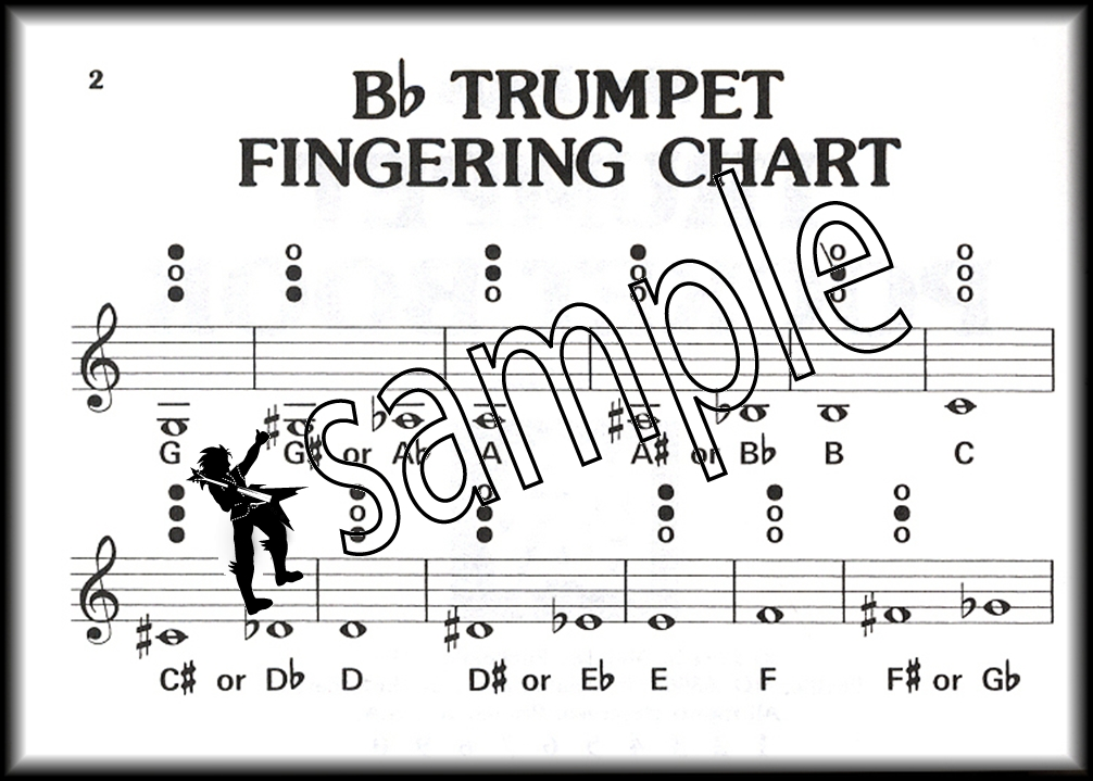 Music Pocketbook Trumpet Sheet Music Book Fingering Chart, Solos