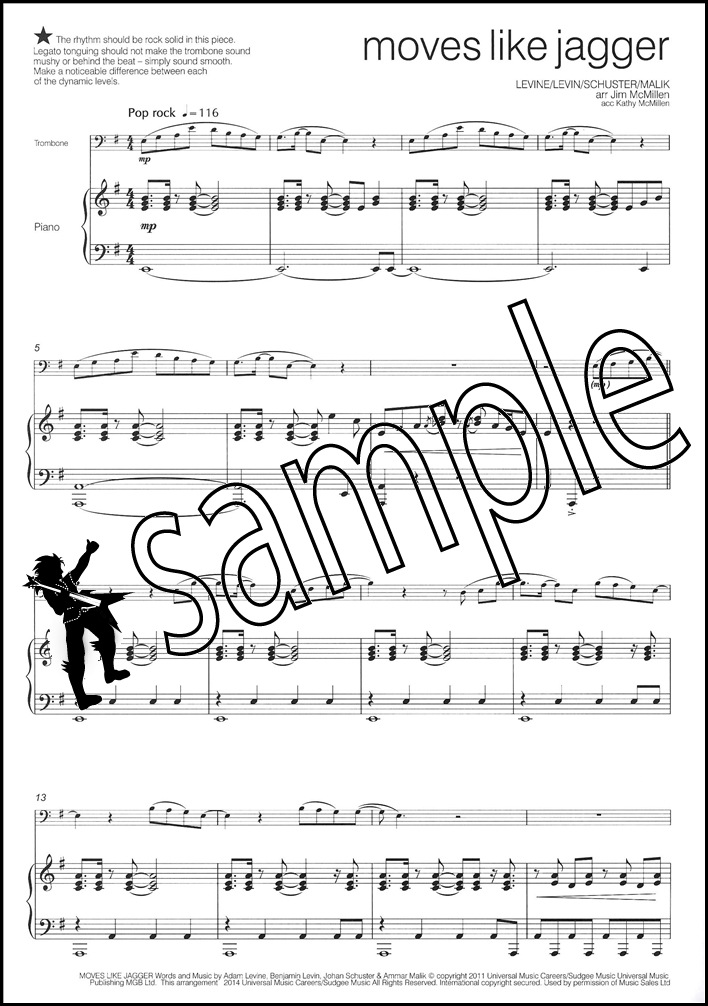 Across The Pond 2 for Trombone Bass Clef Sheet Music Book by Jim - bass cleff sheet music