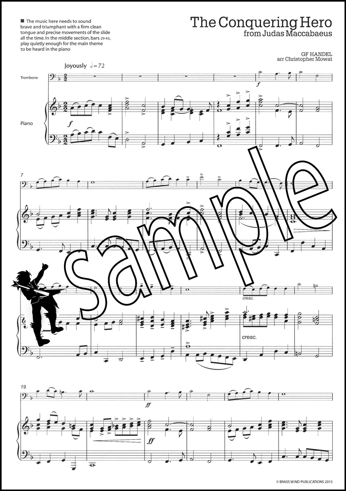 Get A Handel On It for Trombone Bass Clef Sheet Music Book George - bass cleff sheet music