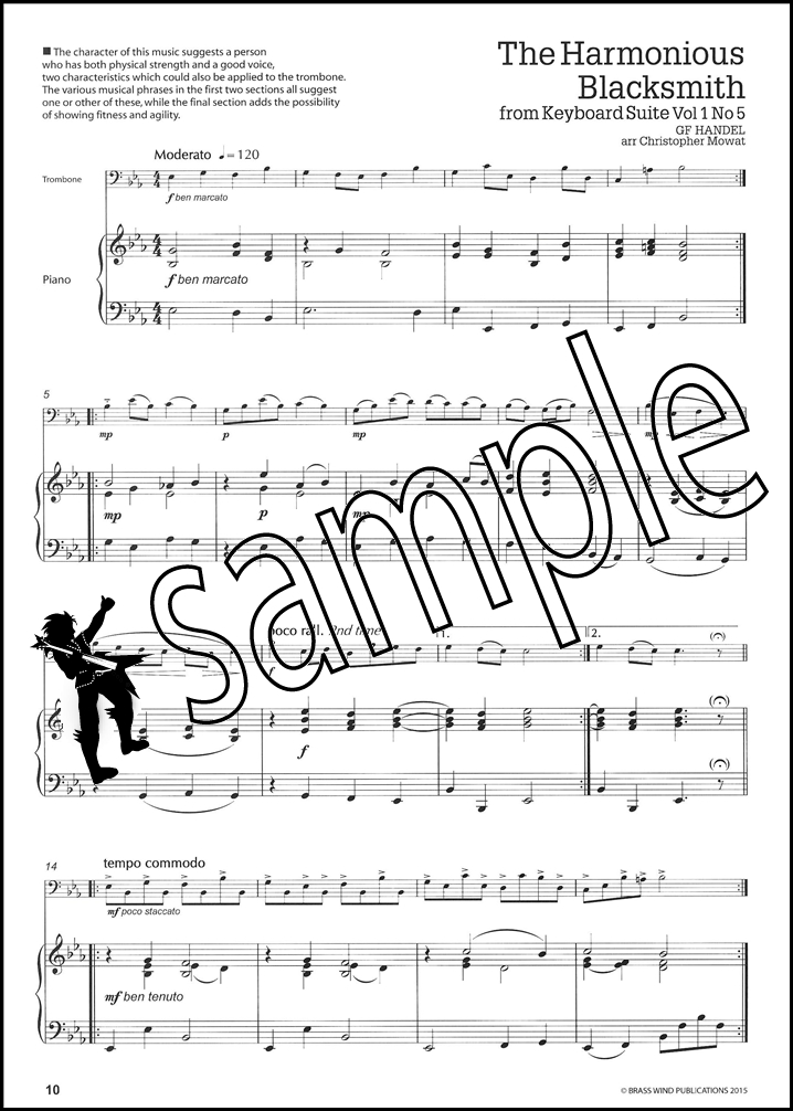 Get A Handel On It for Trombone Bass Clef Sheet Music Book George