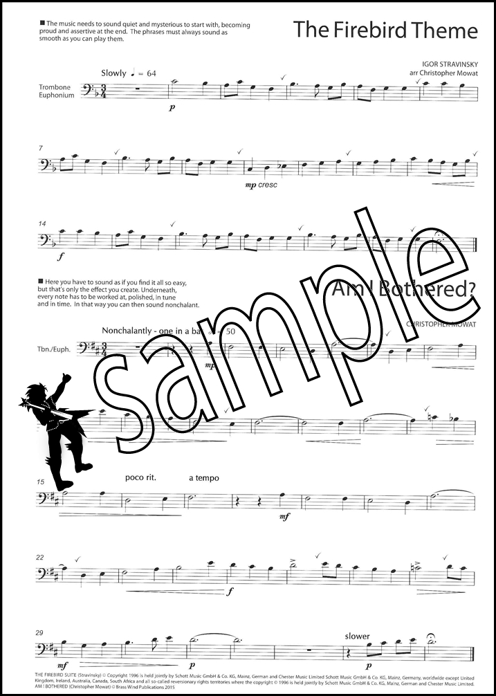SmartBone Trombone/Euphonium Bass Clef Sheet Music Book Mowat eBay - bass cleft sheet music