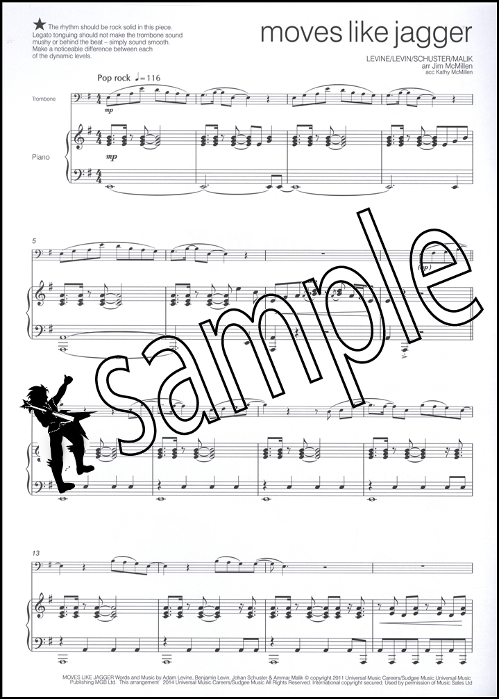 Across The Pond for Trombone 02 Bass Clef Sheet Music Book with CD - bass cleft sheet music