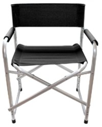 x1 ALUMINIUM DIRECTORS FOLDING CHAIR WITH ARMS CAMPING ...