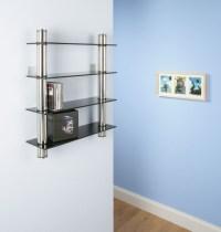 CD RACK / Shelf / storage BLACK GLASS Wall mounted | eBay