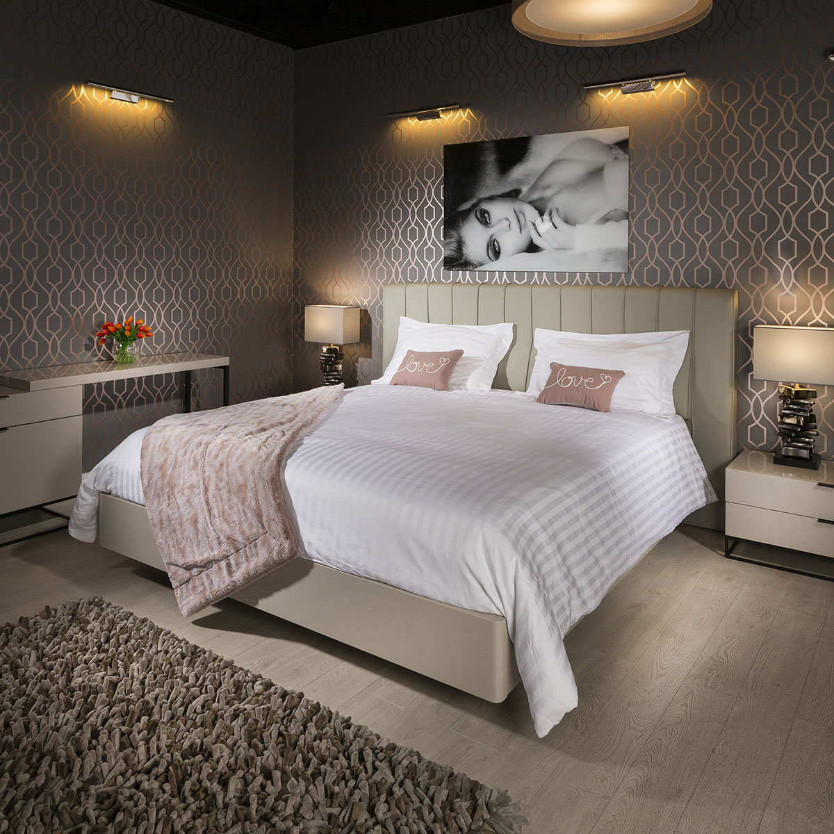 How Big Is A Super King Bed Details About Quatropi Deluxe Super King Bed Frame And Headboard Avoria Grey 1 8mtr