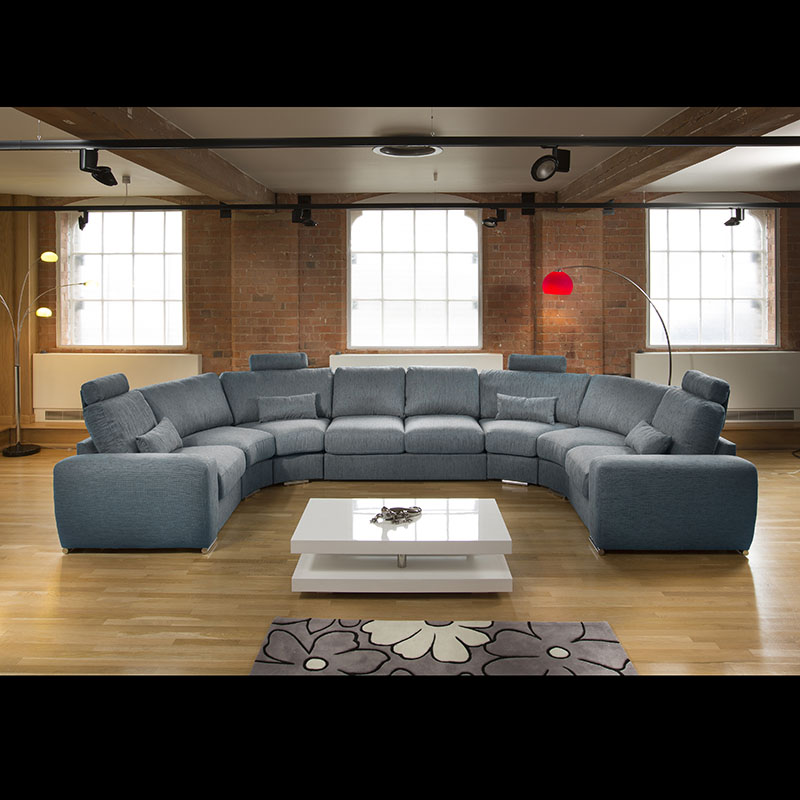 Massive Modern High Quality U Shape Sofa Corner Group