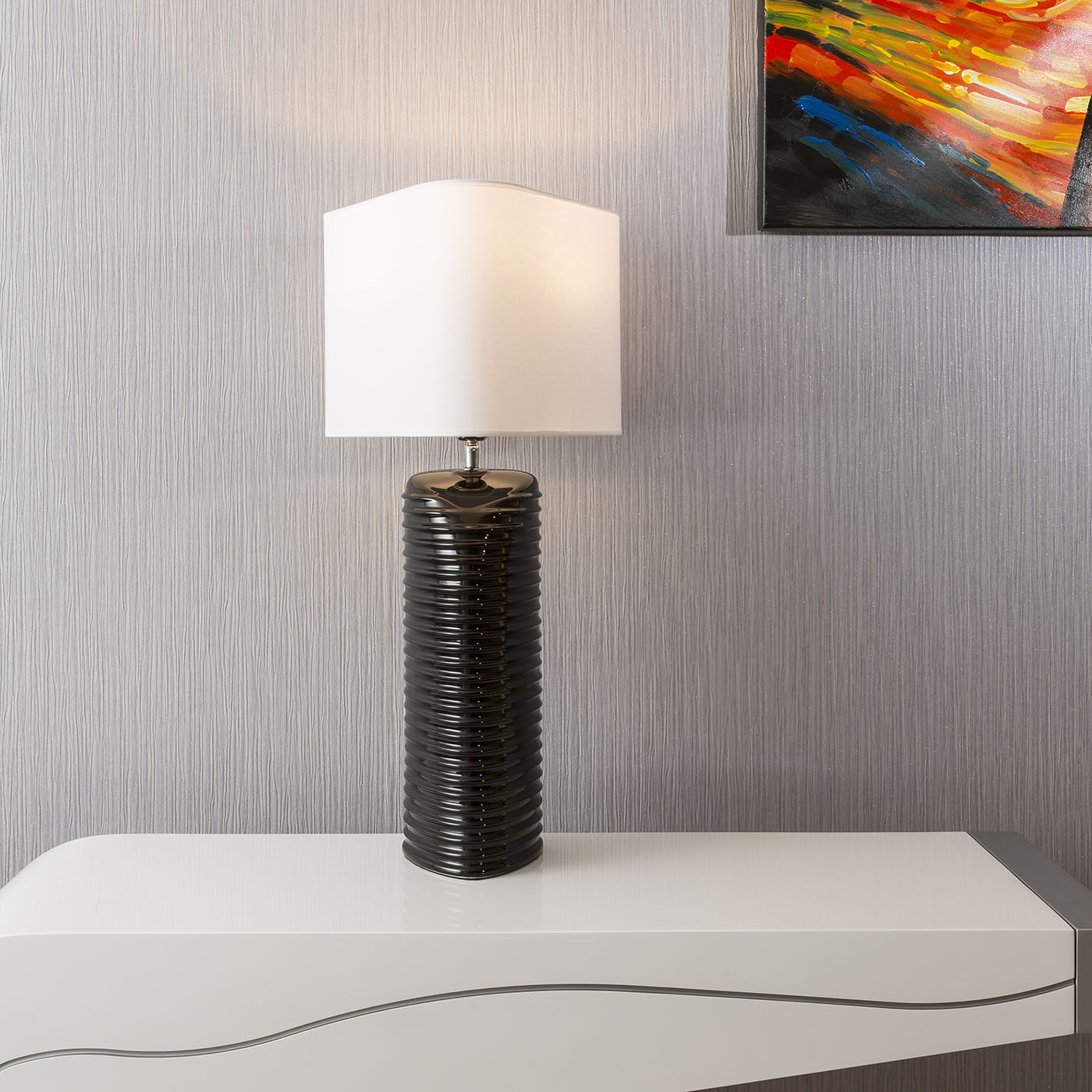 Tall Bedside Lamps Envy Lighting Modern High End Tall Table Bedside Lamp