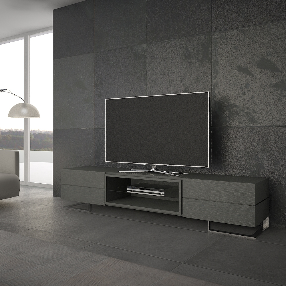 Tv Sideboard Modern Luxury Large Modern Wide Tv Cabinet/buffet Dark Grey ...