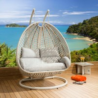 Luxury Outdoor 2 Person Garden Pod Hanging Chair Swing ...