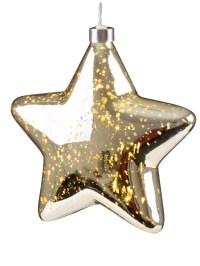 Light Up Christmas Crackle Glass Star LED Xmas Hangnig ...