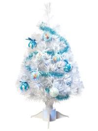 Disney Frozen Fibre Optic Christmas Tree + Tinsel Baubles ...