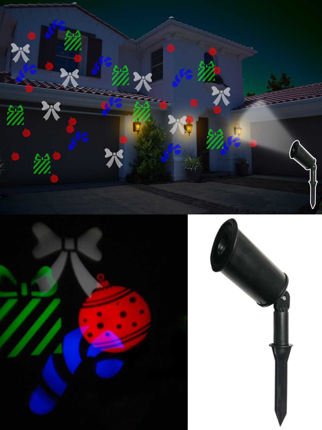 Projecteur Laser Noel Exterieur Outdoor Christmas Lights Projector Lamp Moving Snowflake