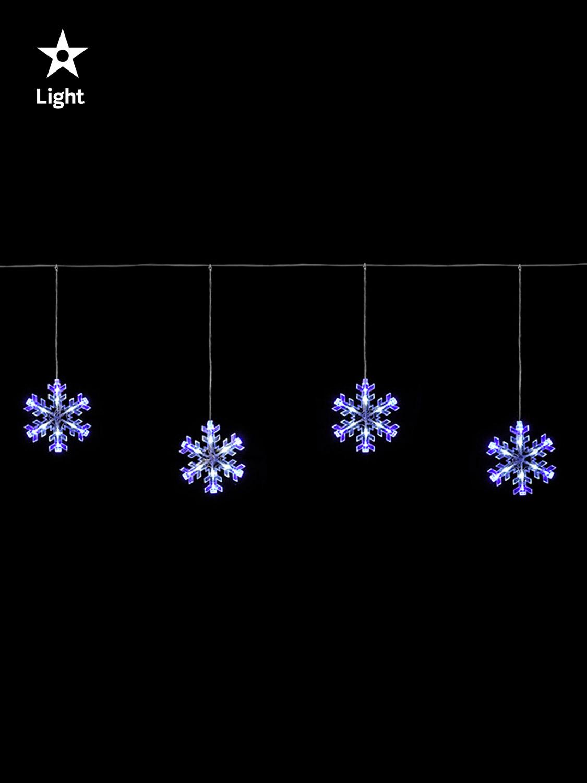 Hanging Christmas Light Curtain Icicle Star Snowflake