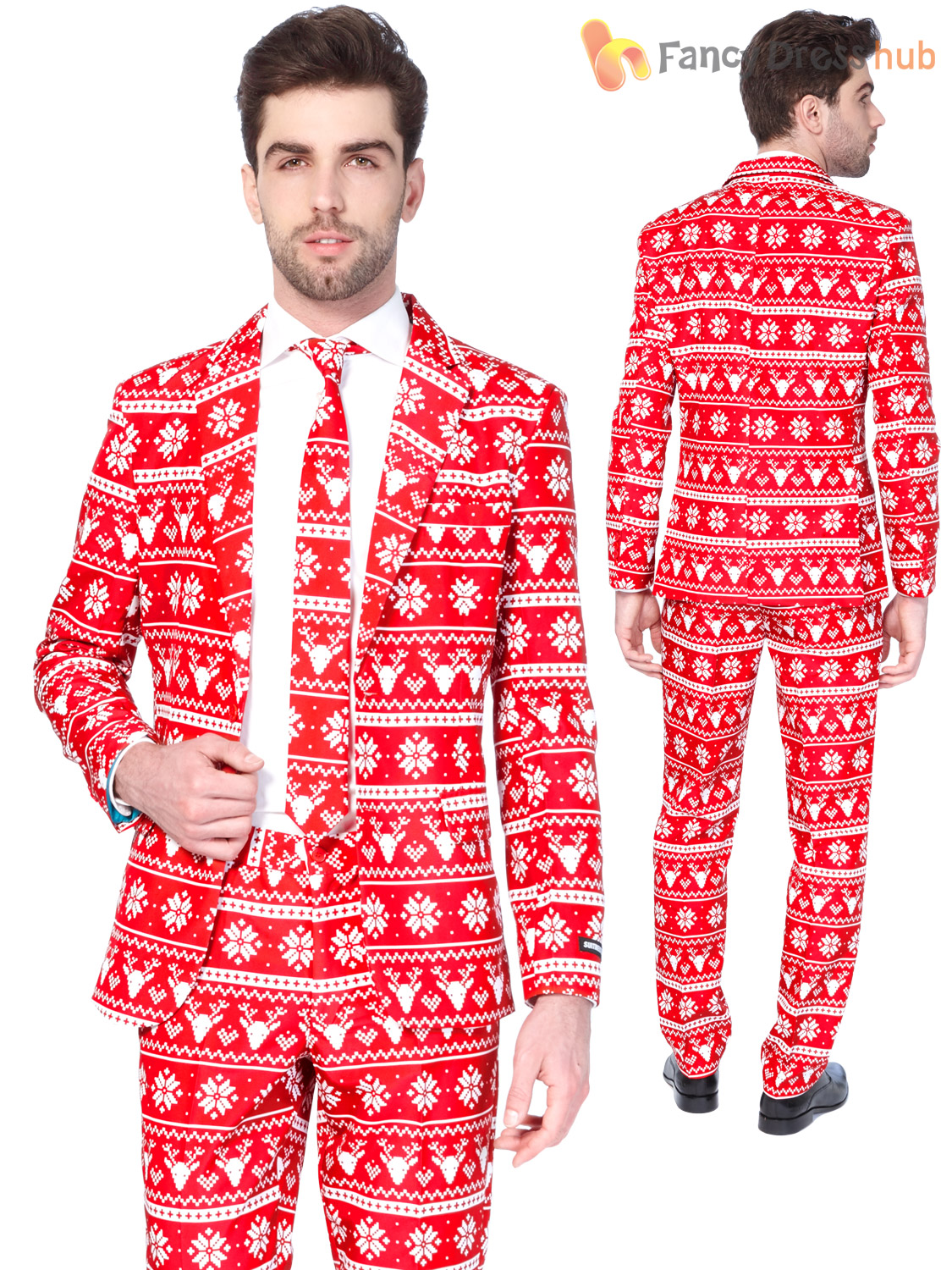 Herrenmode Festlich Mens Christmas Tree Suitmeister Suit Xmas Party Festive