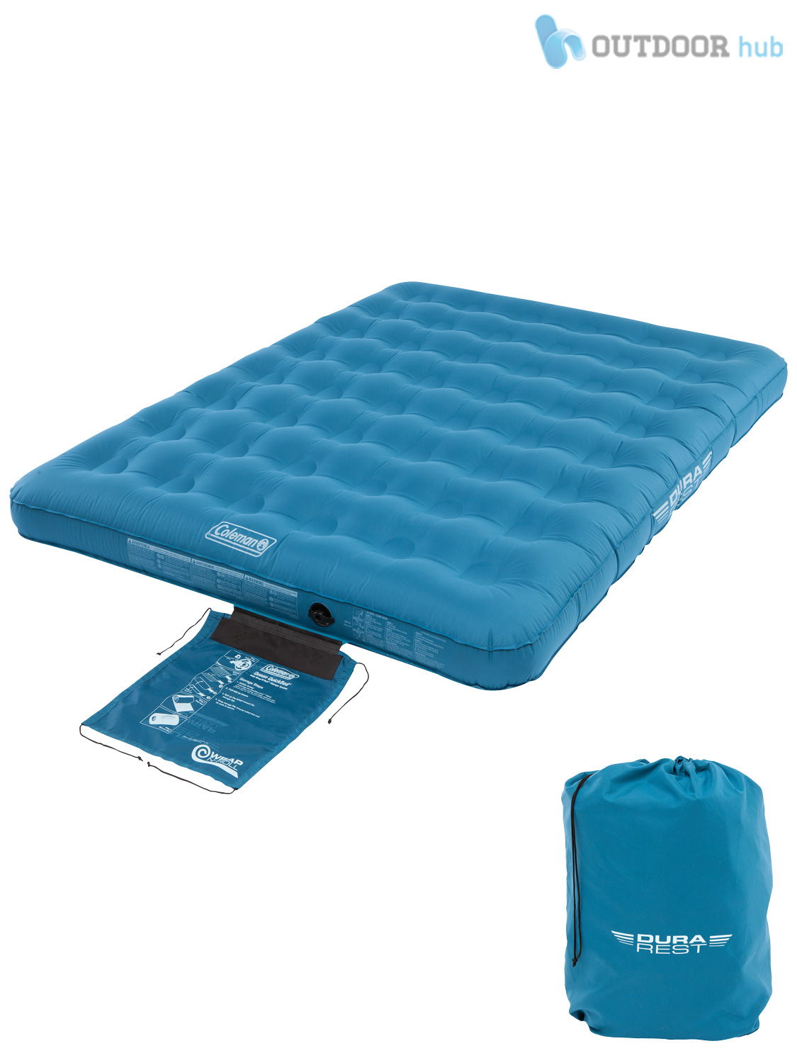 Double Inflatable Mattress Coleman Durarest Airbed Single Double Raised Inflatable
