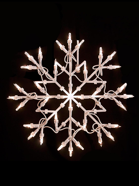 Christmas Light Shapes Window Snowflake Star Merry