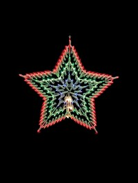 Christmas Light Shapes Window Snowflake Star Merry