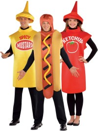 Adults American Food Costume Hot Dog Sauce Fancy Dress