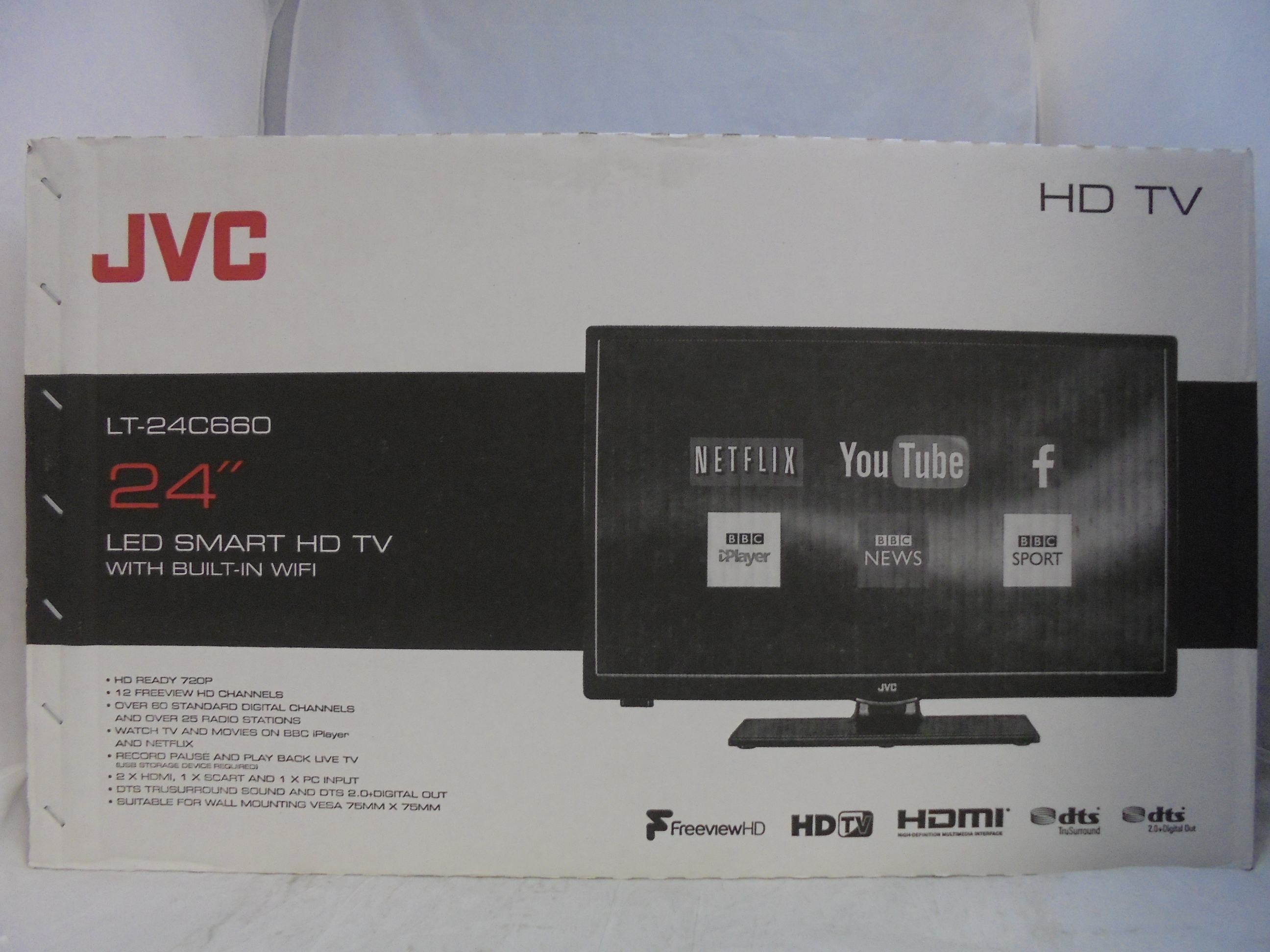 Jvc Tv Jvc Lt 24c660 24 Quot Led Smart Tv With Built In Wifi Freeview