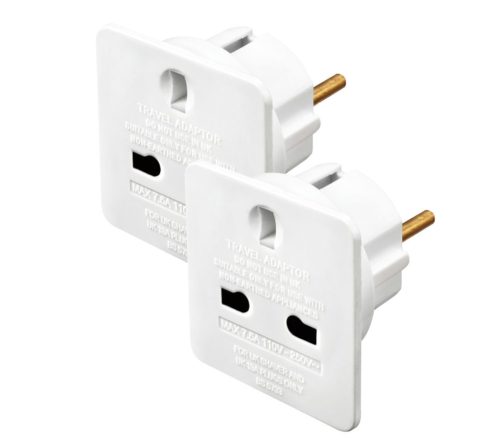 Travel Adapter Eu To Uk Details About Masterplug Taeur 2 Mp Uk To Eu Travel Adapter Twin Pack Currys