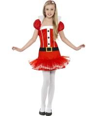 Teen Santa Girl Tutu Dress Girls Christmas Party Fancy ...