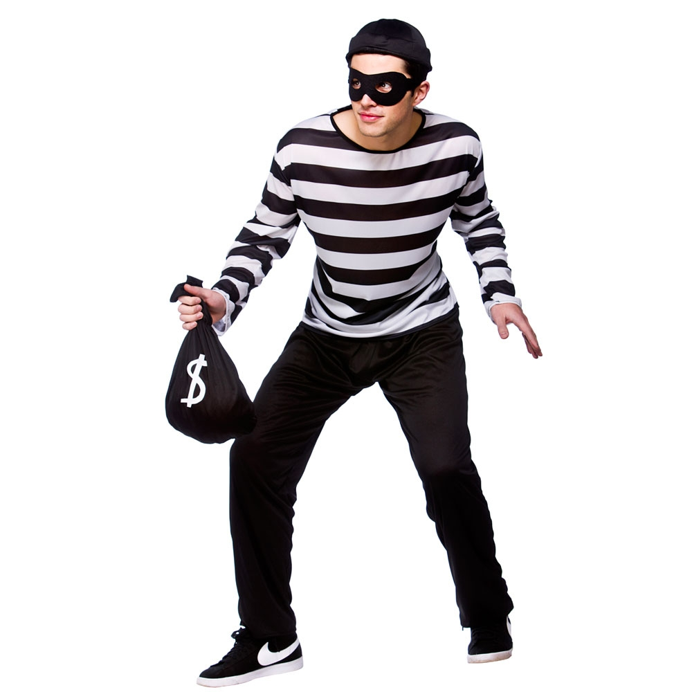 Diy Bank Robber Shirt 12 Diy Halloween Costumes For People On A Budget