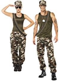Camouflage Army Uniform + Dog Tags Adults Fancy Dress ...
