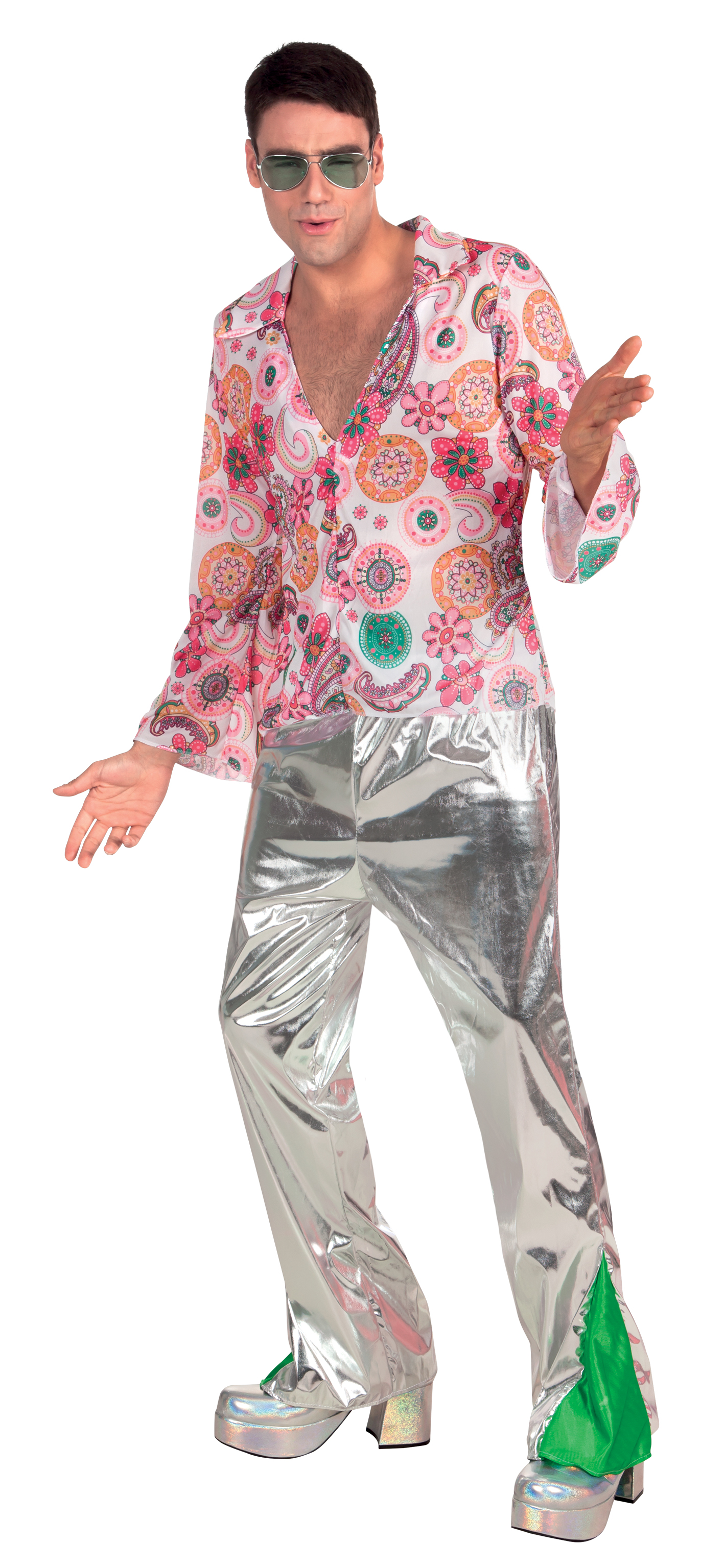Outfit Disco 1970s Disco Fever Mens Fancy Dress 70s Retro Funky Dancer